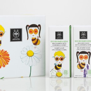 An image of Apivita's Kids Packaging, designed by DKD.