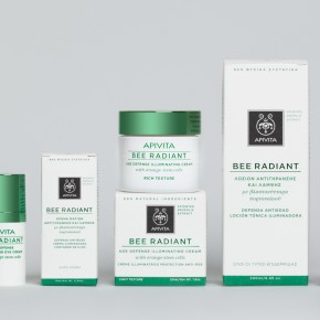 Bee Radiant Apivita Face Cream Packaging