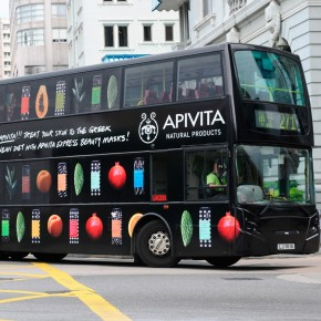 Apivita Express Face Masks Bus Ad