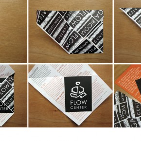 Flow Center yoga brand identity
