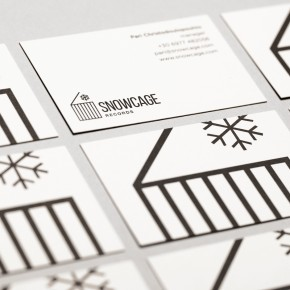 SNOWCAGE RECORDS BUSINESS CARDS