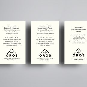 Oros Business Cards